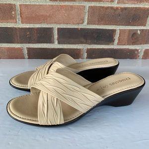 Damiani's slip on wedge sandals